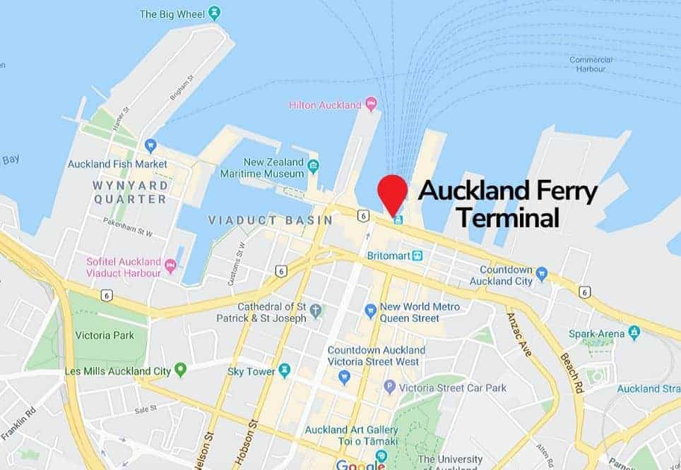 Auckland Ferry Terminal Map