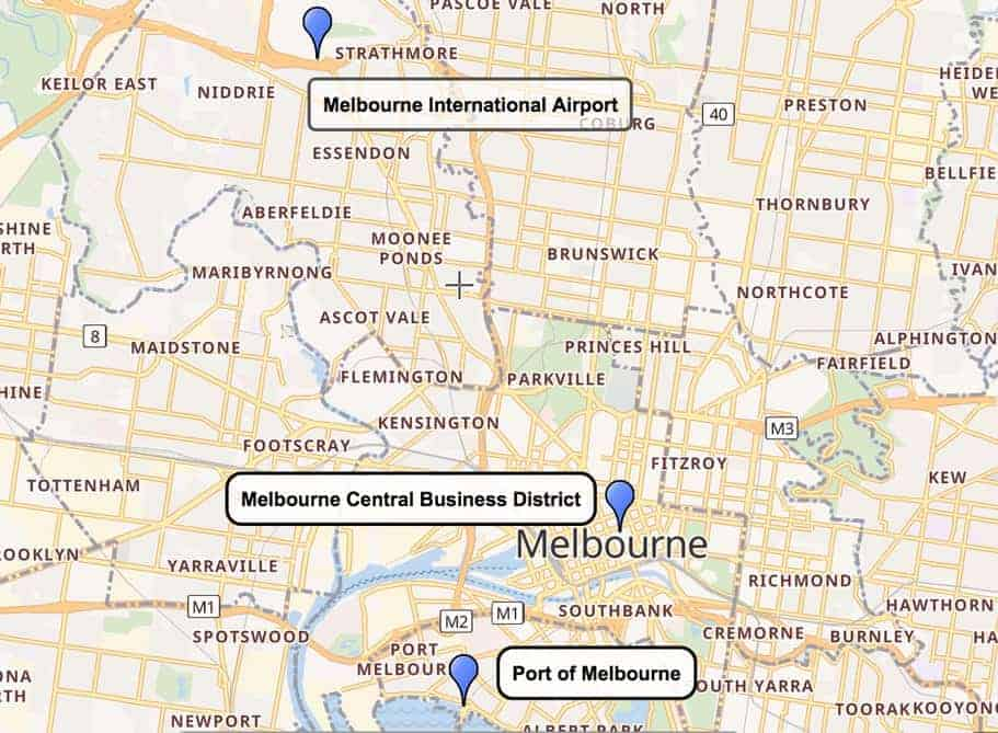 Melbourne Airport to City Centre and Cruise Port