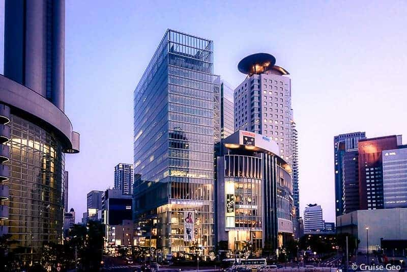 The Hilton Plaza East and Osaka Marubiru