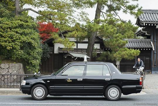 registered black taxi in Osaka, Japan
