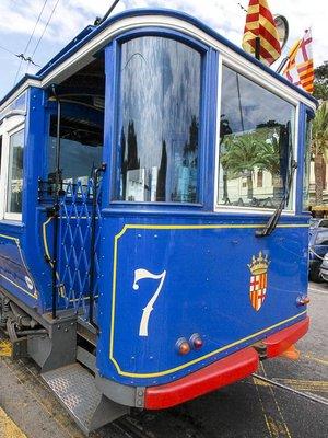 A tram in Barcelona, Spain
