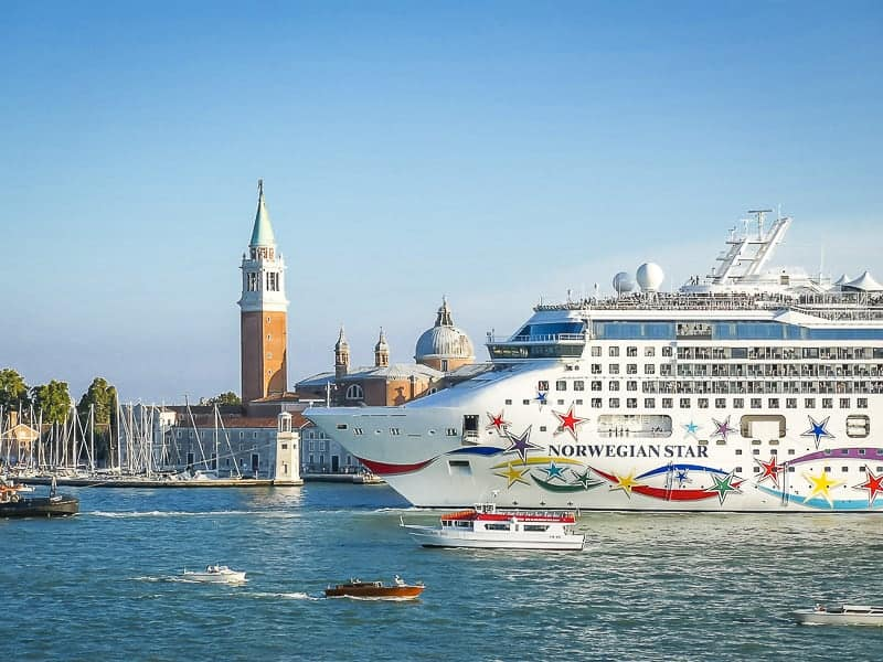 Norwegian Star Sailing in Venice, Italy