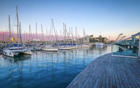 Barcelona Harbour in Spain