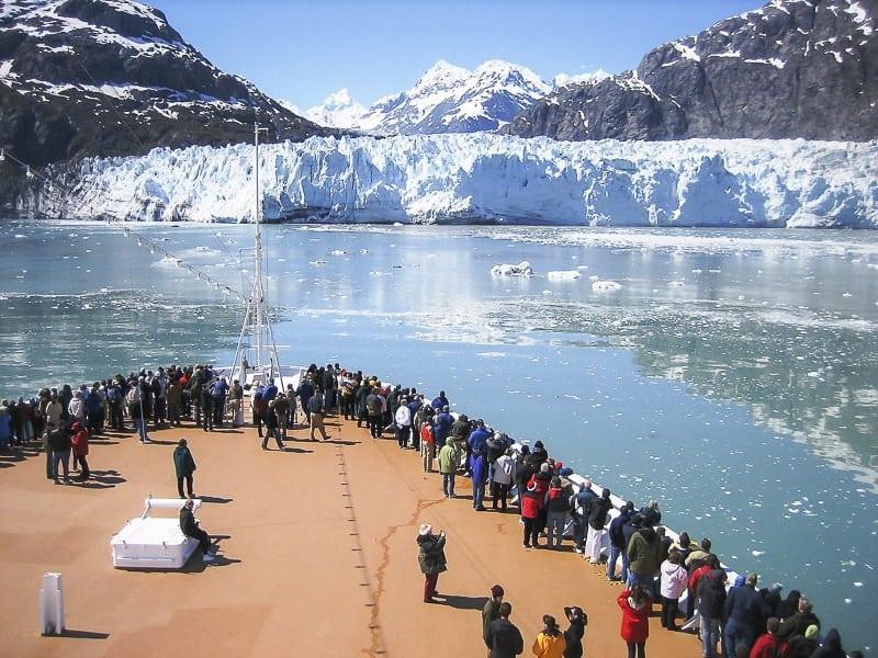 Alaska cruise finding iceberg