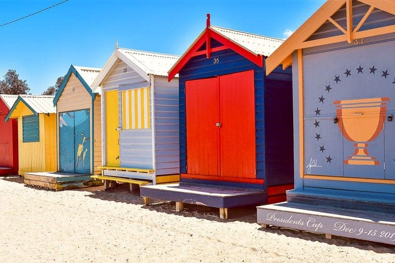 Beach Boxes in Brighton, Melbourne, Australia