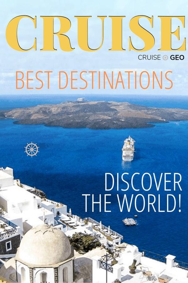 Santorini, Greece indicating the best cruise destinations around the world