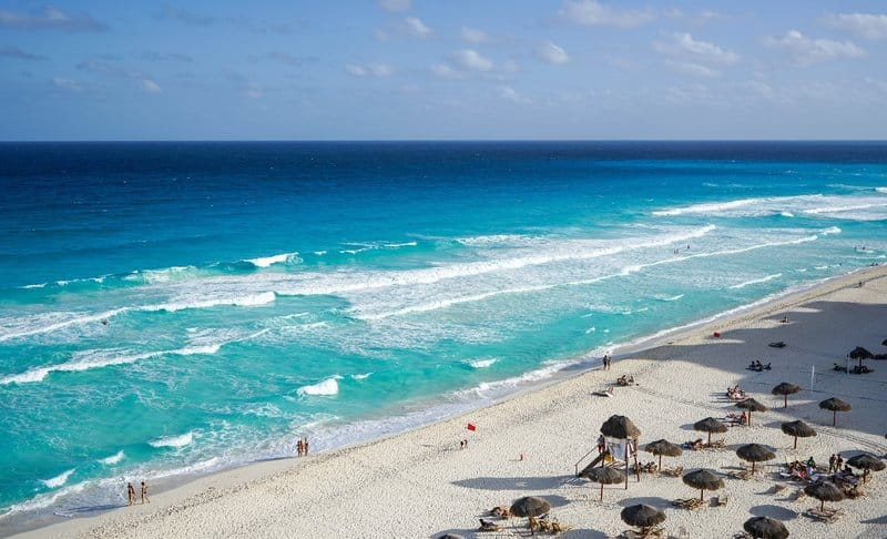 A Beach in Cancun, Mexico
