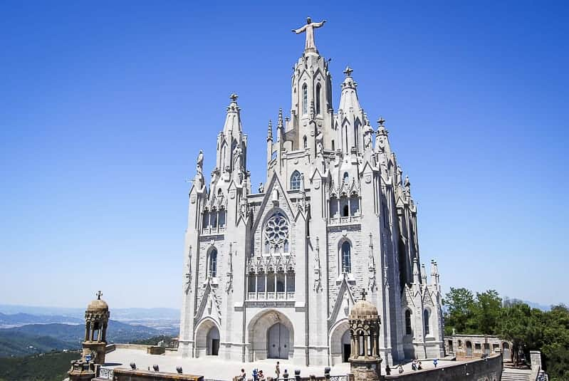 Tibidabo in Barcelona, Spain