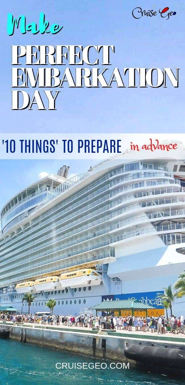 Embarkation Day for First Cruise