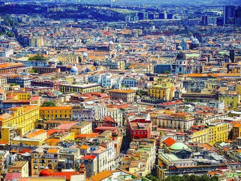 Naples city scape shows how the city is historically and culturally glorious, Italy