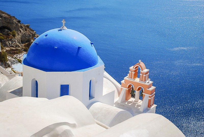 Orthodox church in Santorini, Greece