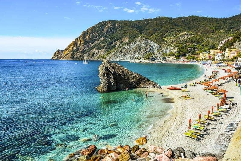 Seashore Monterosso al Mare Beach, Italy