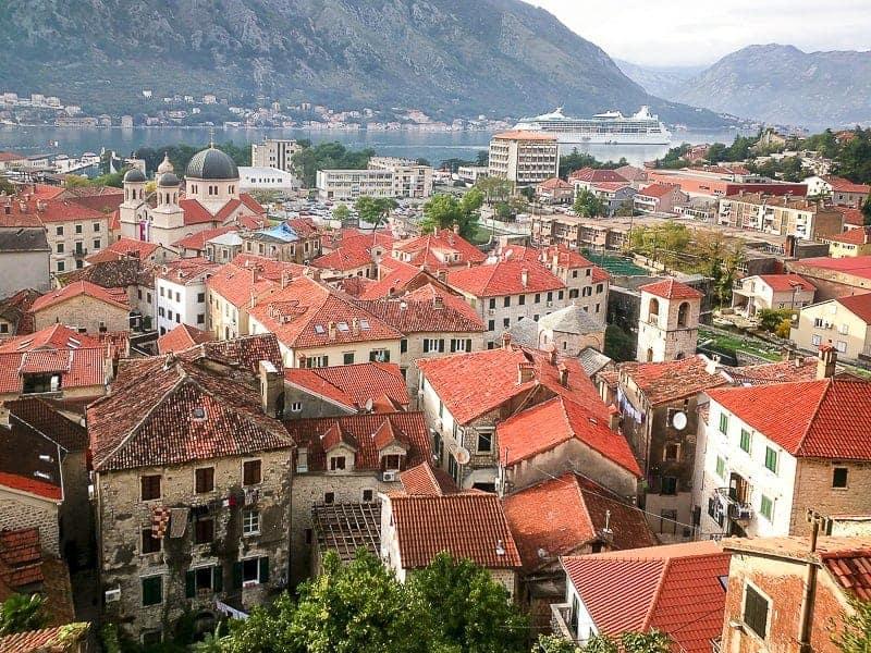 Terracotta Roofs in Kotor, Montenegro