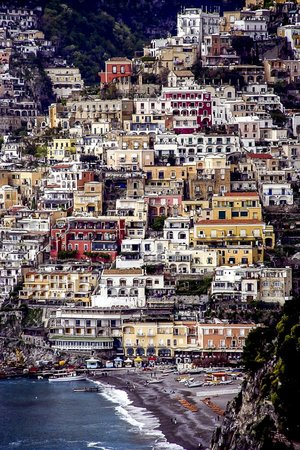 Western Mediterranean - A beautiful Amalfi landscape of the residential area in Italy