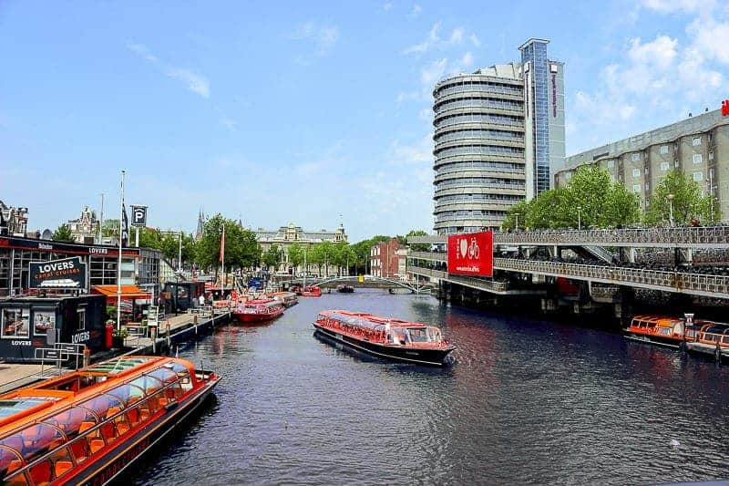 River Boats in Amsterdam, Netherlands