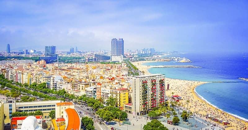 Barcelona Beach in Barcelona, Spain