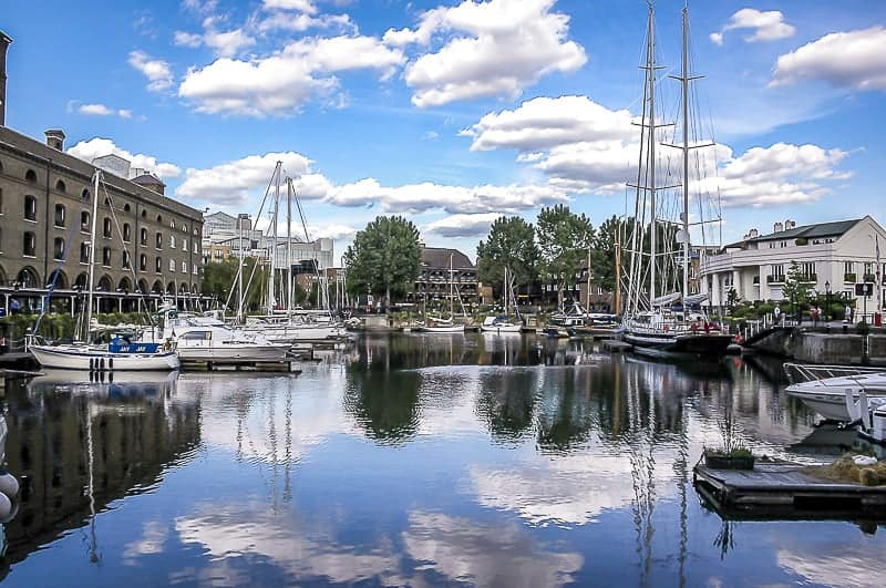 A beautiful yacht harbour in UK