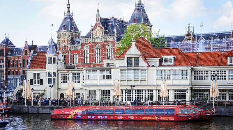 Central Station Building in Amsterdam, the Netherlands