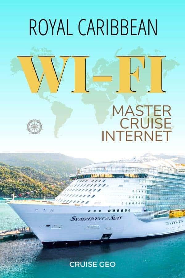 Royal Caribbean cruise ship invoking wi-fi service and sailing at sea