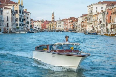 Water Taxi transfer from the airport in Venice, Italy