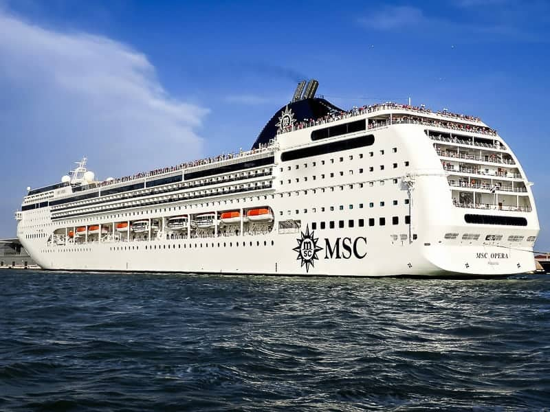 MSC Opera in the Mediterranean