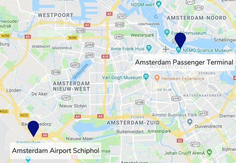 Amsterdam Airport and Amsterdam Passenger Terminal