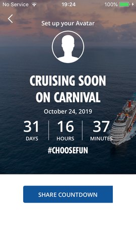 Carnival Hub App Cout Down