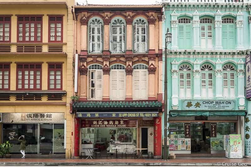 Historic District in China Town in Singapore