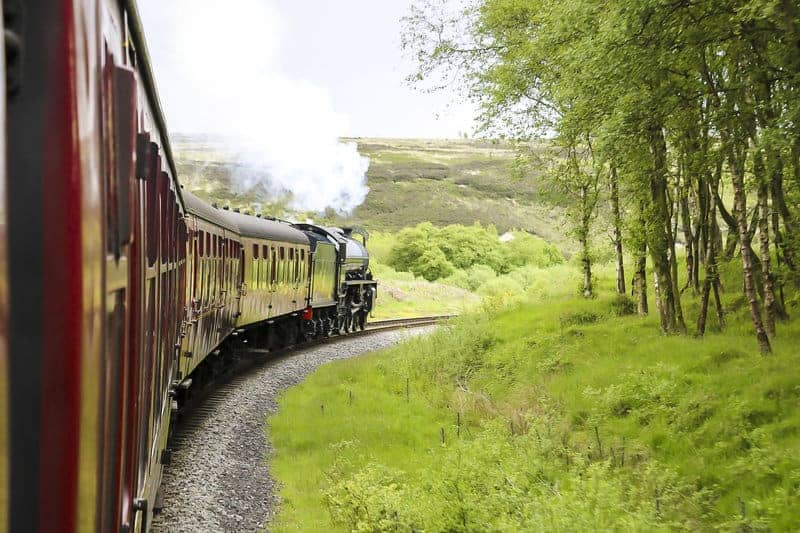 A Steam Train in Yorkshire, UK