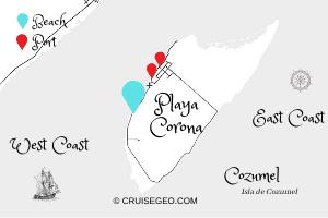 Playa Corona Map