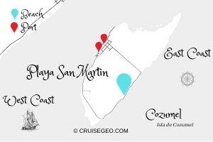 Playa San Martin Map
