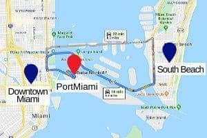 Port of Miami Parking Map