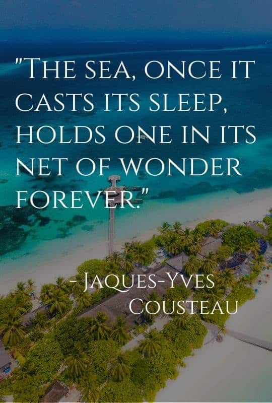 cruise quote from Jaques-Yves Cousteau