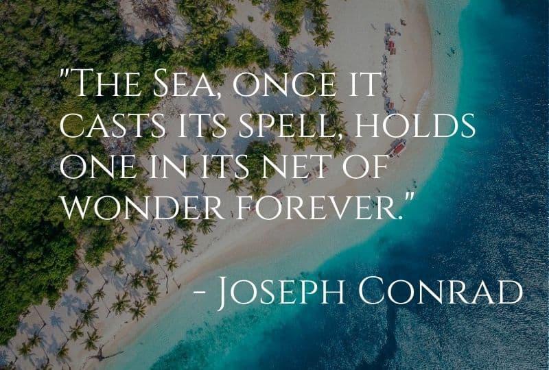 Cruise Quote from Joseph Conrad