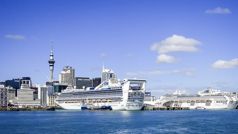 Auckland Port in New Zealand