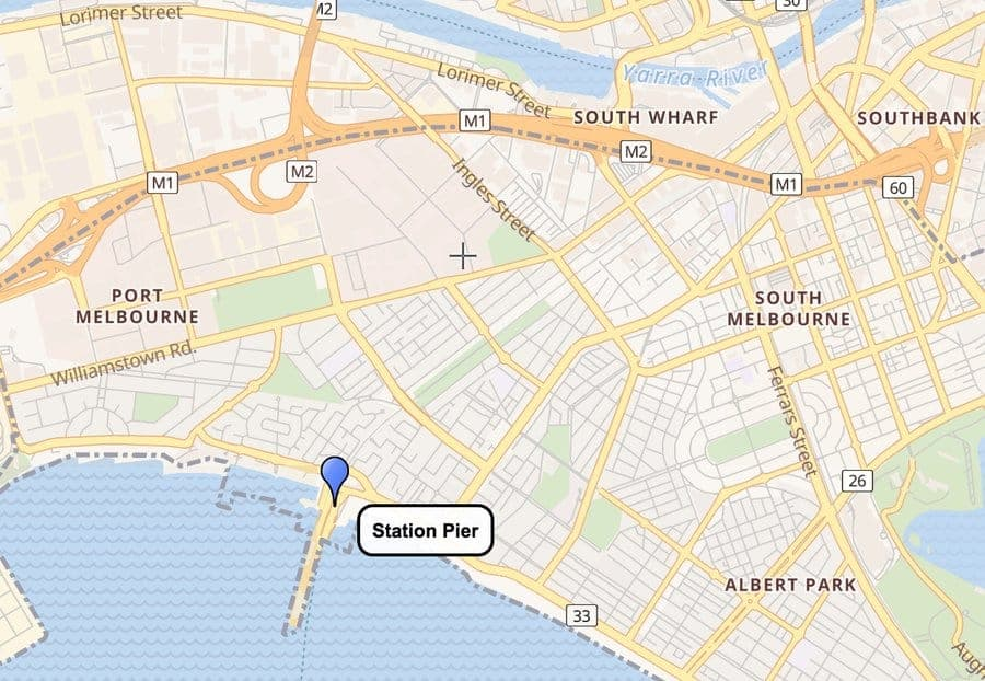 Melbourne Station Pier Map