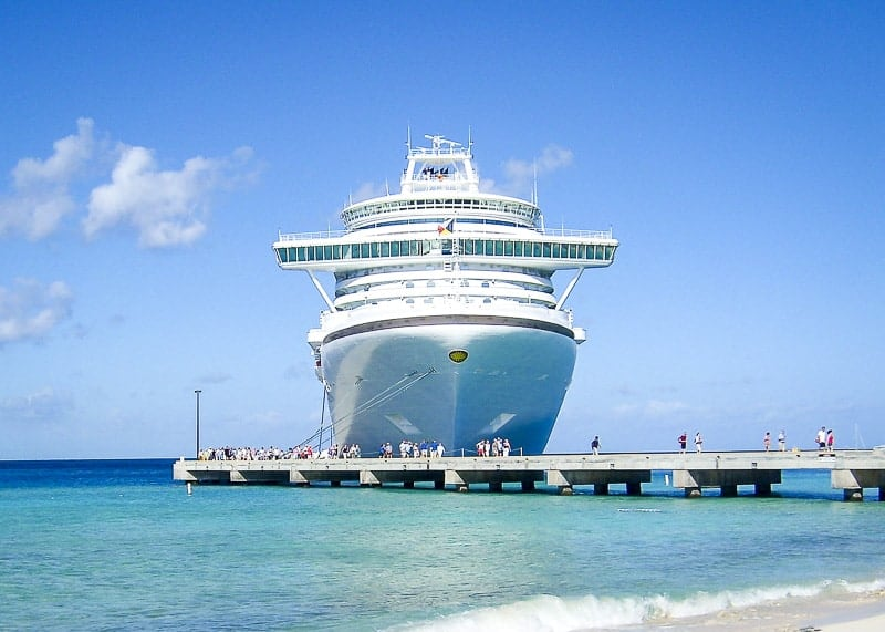 A Cruise Ship Docking at the Caribbean