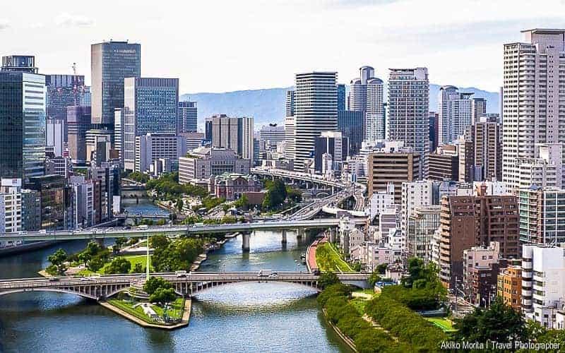 City View in Osaka Kitahama, Japan