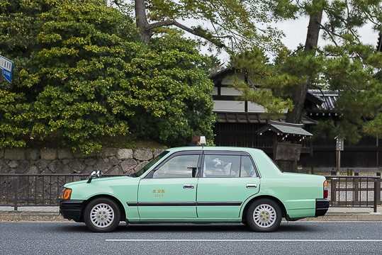 registered green taxi in Osaka, Japan