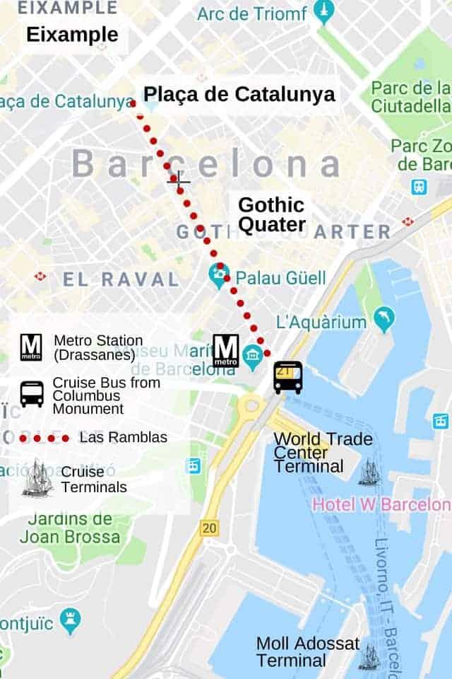 Barcelona City Centre Map