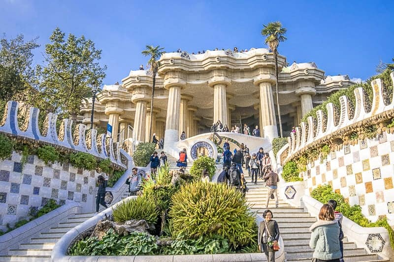 Gaudi Park in Barcelona, Spain