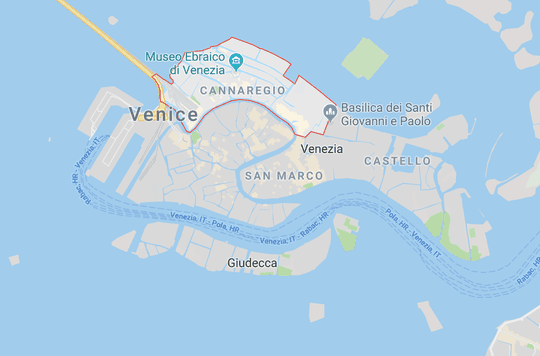 Cannaregio District in Venice, Italy