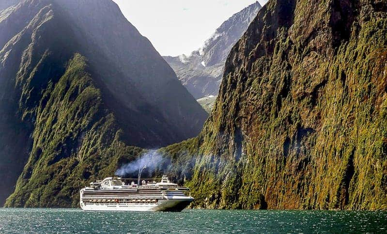 Cruise Ship in Norwegian Fujord for Best Couples Cruises