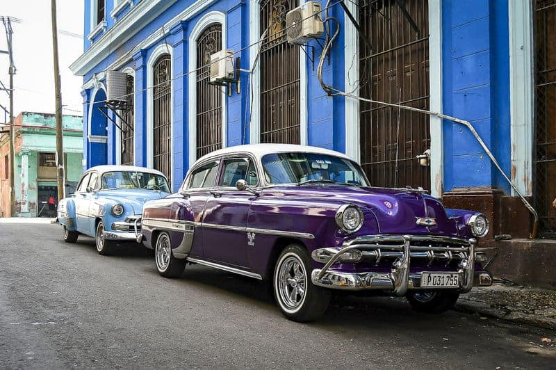 Vintage Classic Car in Cuba