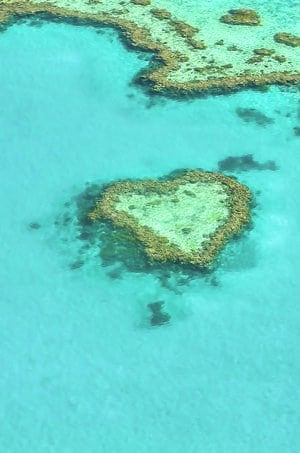 Heart Reef in Australia