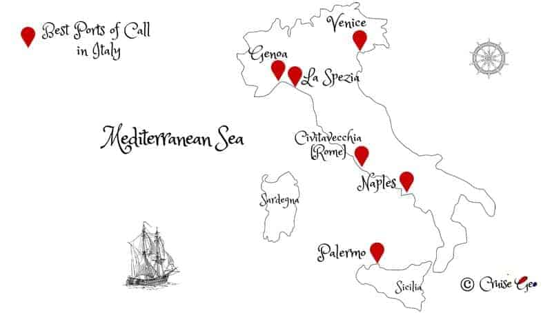 Italy Cruise Port Map