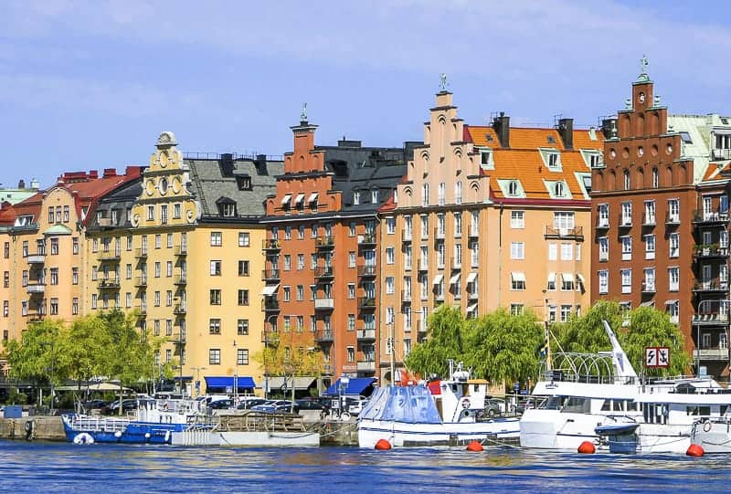 Stockholm Waterfront in Sweden for Port of Stockholm