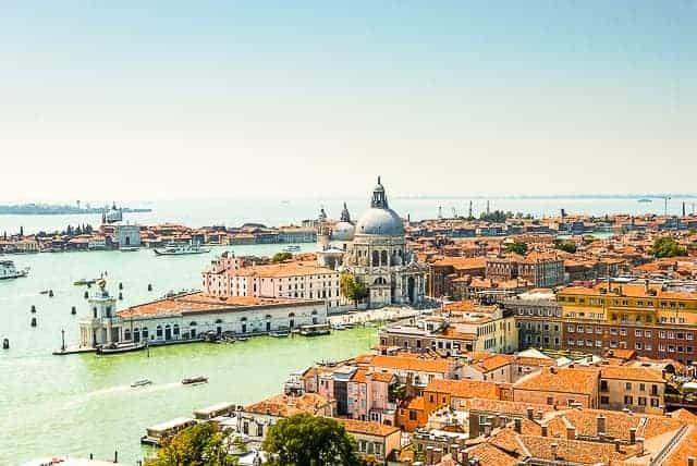 Santa Maria della Salute and the Venetian Lagoon in Venice, Italy
