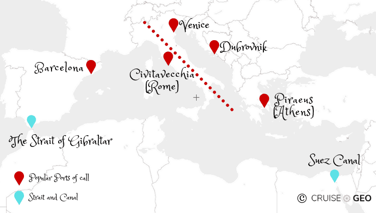 Eastern and Western Mediterranean Sea