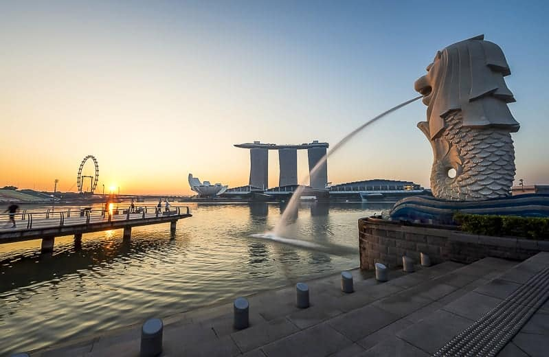 Mar Lion at Marina Bay in Singapore